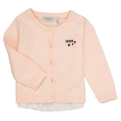 Clothing Girl Jackets / Cardigans Ikks ADIL Pink
