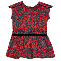 Clothing Girl Short Dresses Ikks MAGGIE Grey / Red