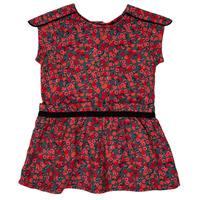 Clothing Girl Short Dresses Ikks MAGGIE Grey / Red