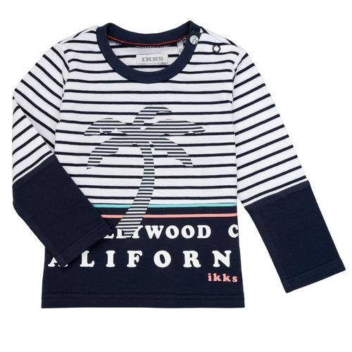 Clothing Boy Long sleeved tee-shirts Ikks LAURA Multicolour