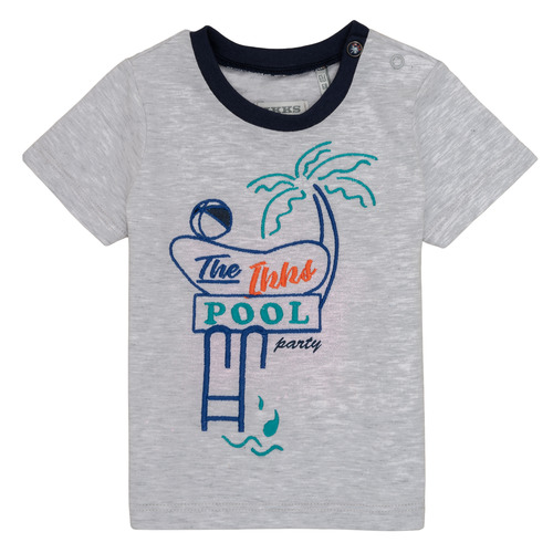 Clothing Boy Short-sleeved t-shirts Ikks LISIANA Grey