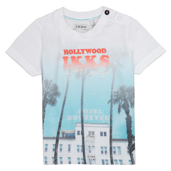 Clothing Boy short-sleeved t-shirts Ikks JOSIANE White
