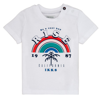 Clothing Boy Short-sleeved t-shirts Ikks TITI White