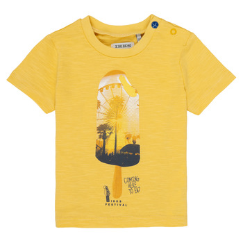 Clothing Boy short-sleeved t-shirts Ikks CORINNE Yellow