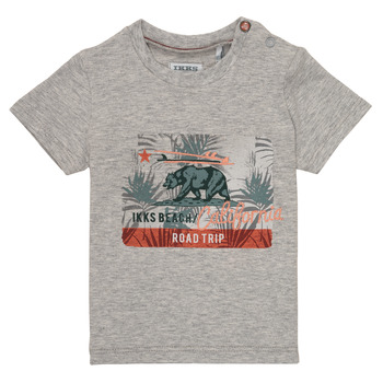 Clothing Boy short-sleeved t-shirts Ikks AMBRE Grey
