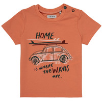 Clothing Boy Short-sleeved t-shirts Ikks MANU Orange