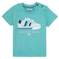 Clothing Boy Short-sleeved t-shirts Ikks MARIA Turquoise
