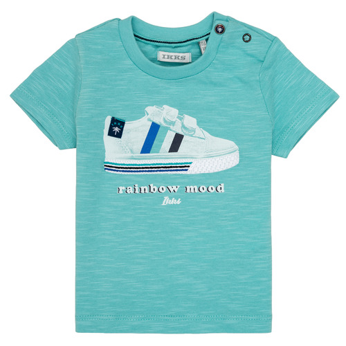 Clothing Boy short-sleeved t-shirts Ikks MARIA Turquoise
