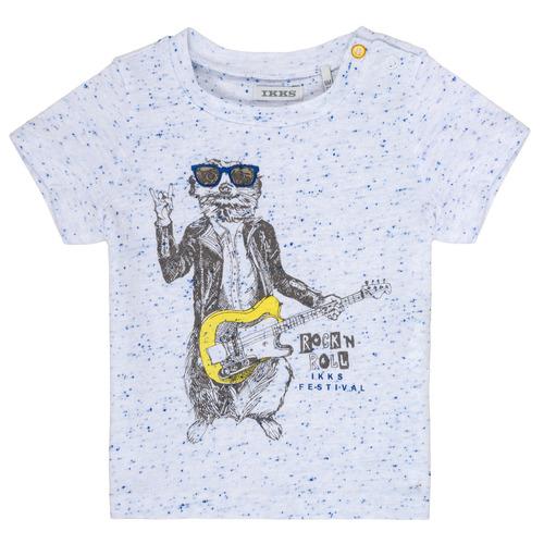 Clothing Boy Short-sleeved t-shirts Ikks MARIO White