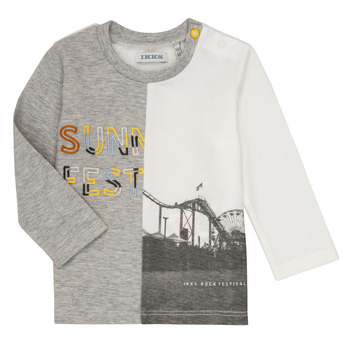 Clothing Boy Long sleeved tee-shirts Ikks MAELINO Grey