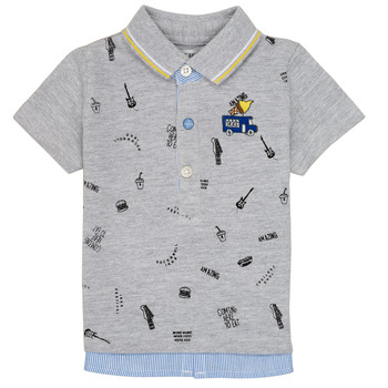 Clothing Boy short-sleeved polo shirts Ikks MAELYS Grey