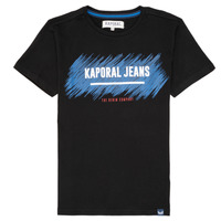 Clothing Boy short-sleeved t-shirts Kaporal EDMUN Black