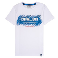 Clothing Boy short-sleeved t-shirts Kaporal EDMUN White
