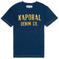 Clothing Boy short-sleeved t-shirts Kaporal EDSON Marine