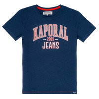 Clothing Boy short-sleeved t-shirts Kaporal ERNIE Marine