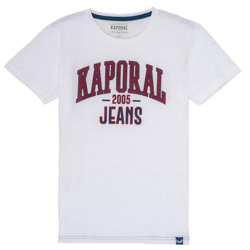 Clothing Boy Short-sleeved t-shirts Kaporal ERNIE White
