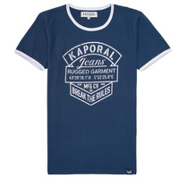 Clothing Boy short-sleeved t-shirts Kaporal EVOLI Marine