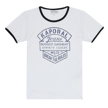 Clothing Boy short-sleeved t-shirts Kaporal EVOLI White