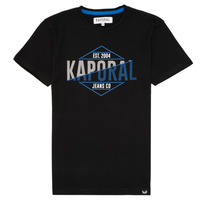 Clothing Boy short-sleeved t-shirts Kaporal EWART Black