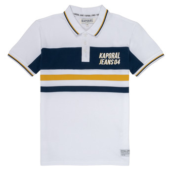 Clothing Boy Short-sleeved polo shirts Kaporal ELIOR White