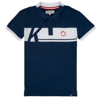 Clothing Boy short-sleeved polo shirts Kaporal ERUDI Marine