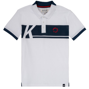 Clothing Boy short-sleeved polo shirts Kaporal ERUDI White