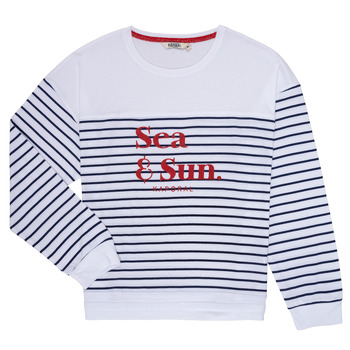 Clothing Girl Long sleeved tee-shirts Kaporal JOVI White / Marine