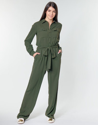 Clothing Women Jumpsuits / Dungarees MICHAEL Michael Kors ROLL SLV SAFARI JMPST Kaki