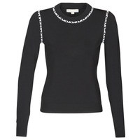 Clothing Women Jumpers MICHAEL Michael Kors MK TRIM LS CREW Black