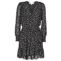 Clothing Women Short Dresses MICHAEL Michael Kors RUFFLE WRAP DRS Black / White