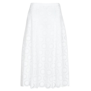 Clothing Women Skirts MICHAEL Michael Kors FLORAL EYLT LNG SKIRT White