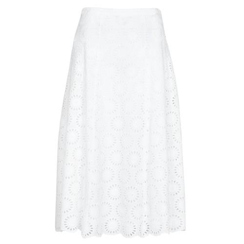 Clothing Women Skirts MICHAEL Michael Kors FLORAL EYLT LNG SKIRT White