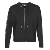 Clothing Women sweaters MICHAEL Michael Kors MK GRAPH ZIP HOODIE Black