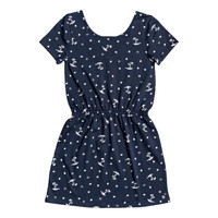 Clothing Girl Short Dresses Roxy THE CLOUDS Marine