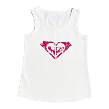 Clothing Girl Tops / Sleeveless T-shirts Roxy THERE IS LIFE PRINT White