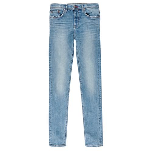 Clothing Boy slim jeans Teddy Smith FLASH Blue / Clear