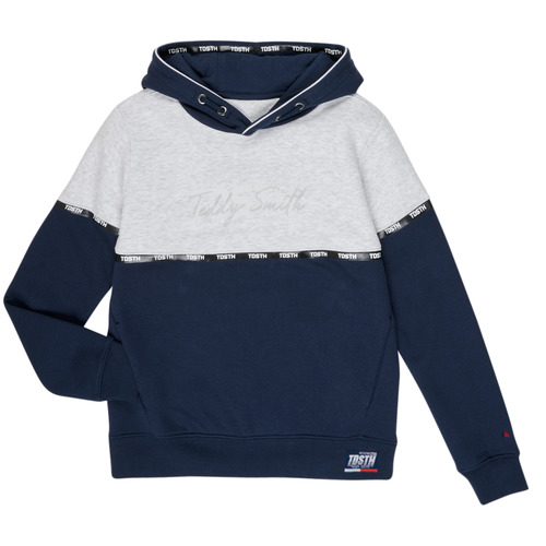 Clothing Boy sweaters Teddy Smith SLOWY Marine / Grey