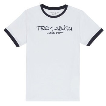 Clothing Boy Short-sleeved t-shirts Teddy Smith TICLASS 3 White