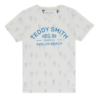 Clothing Boy Short-sleeved t-shirts Teddy Smith ERNEST Beige