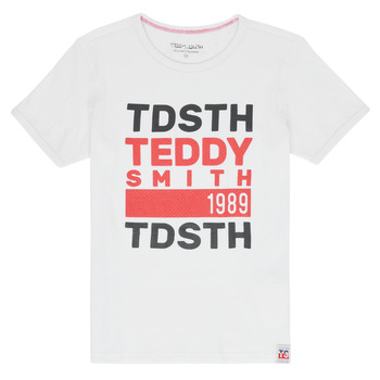 Clothing Boy Short-sleeved t-shirts Teddy Smith DUSTIN White