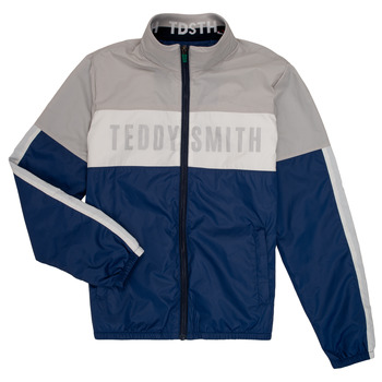 Clothing Boy Jackets Teddy Smith HERMAN Grey / Marine