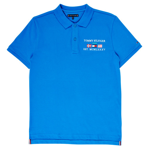 Clothing Boy short-sleeved polo shirts Tommy Hilfiger  Blue