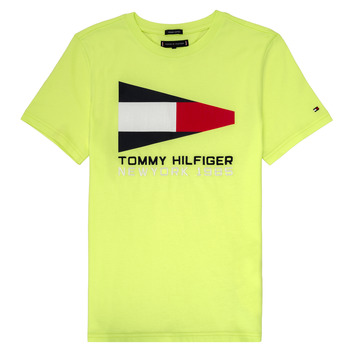 Clothing Boy Short-sleeved t-shirts Tommy Hilfiger KB0KB05628 Yellow