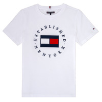 Clothing Boy short-sleeved t-shirts Tommy Hilfiger KB0KB05718 White