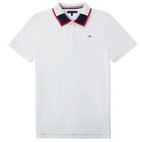 Clothing Boy Short-sleeved polo shirts Tommy Hilfiger KB0KB05658 White