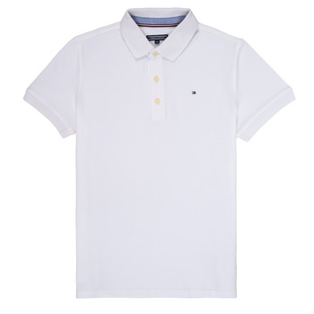 Clothing Boy Short-sleeved polo shirts Tommy Hilfiger KB0KB03975 White