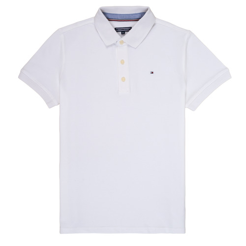 Clothing Boy short-sleeved polo shirts Tommy Hilfiger  White