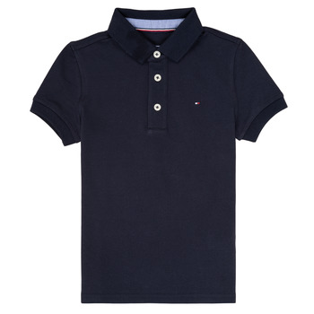 Clothing Boy short-sleeved polo shirts Tommy Hilfiger  Marine