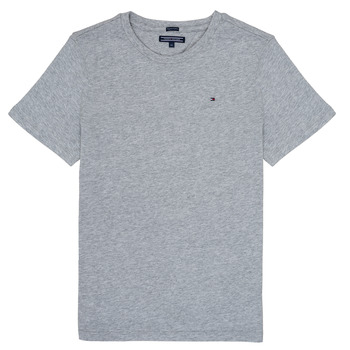 Clothing Boy short-sleeved t-shirts Tommy Hilfiger  Grey