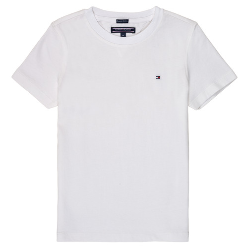 Clothing Boy short-sleeved t-shirts Tommy Hilfiger  White